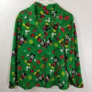 Disney Pajama Set Womens XL Christmas Mickey D153